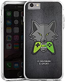 DeinDesign Apple iPhone 6s Plus Bumper Hülle transparent Bumper Case Schutzhülle VFL Wolfsburg Esport Merchandise Fanartikel