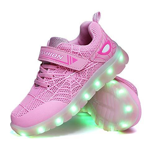 YUNICUS Kinderschuhe Sport Sneaker LED für Kleinkinder Jungen Mädchen