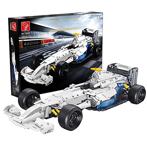 BAXT Tecnica Formule 1 auto da corsa per Ferrari FRR-F1, 1698 pezzi 1:8 Supercar, set di costruzione auto da corsa con morsetti compatibili con Lego Technic Ferrari