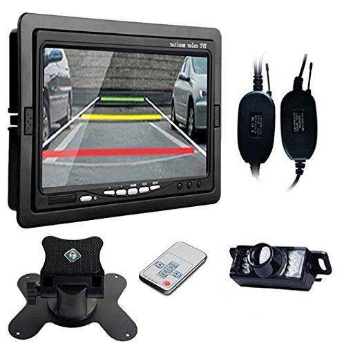 BW® 17,8 cm TFT voiture 2 CH AV-IN + Voiture vue arrière sans fil Vision de nuit étanche caméra de sécurité Système