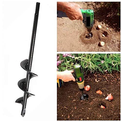 PULABO interessantGartenpflanzer-Bohrer-Bohrer-Rostfreier Schneller Pflanzer Für Das Pflanzen Von Blumenzwiebeln 4 * 22Cm / 4 * 45Cm Stark Und Haltbar