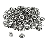 100pc 1/4' Grommets Eyelets for Clothes, Leather, Canvas - Self-Backing