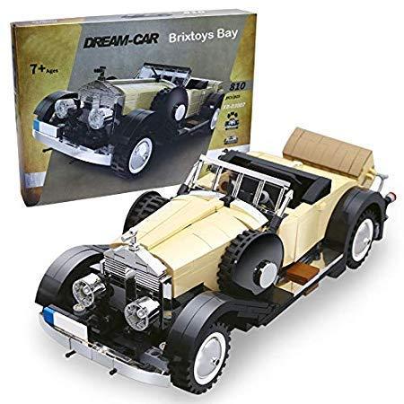Brixtoys Bay Modell Creator - Oldtimer Rolls-Royce Noble - Karton Set 810pcs Kompatibel Bauen Block #X3XX7