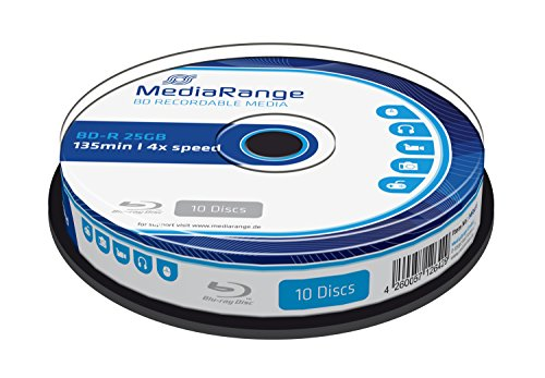 MediaRange MR495 BD-R Blu-ray Disc (25GB 4 x Speed, 10 Stück)