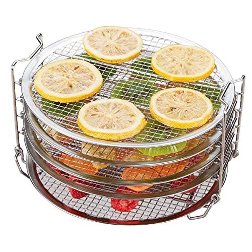 Kispog Dehydrator Rack For Ninja Foodi 6.5 & 8 qt, Instant Pot Duo Crisp 8 qt. Food Grade Stainless Steel