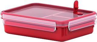 Emsa Mikrowellendose Clip & Micro 517775 | Mit 3 Einsätzen | Mikrowellenventil | 1,2 L | Lunchbox | Integrierte Maßeinteil...