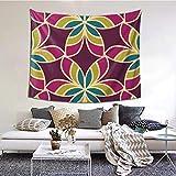 ZVEZVI Adorno marroquí Tapiz Textil Floral para Colgar en la Pared, tapices Manta de Pared Arte de Pared para Sala de Estar Dormitorio decoración del hogar 60 x 51 Pulgadas