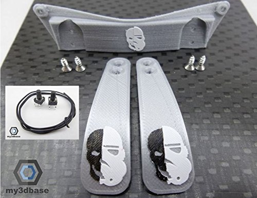 Set: Playstation PS4 - Paddle Mod Kit DIY, Paddles, Taster, Halterung etc (Storm Trooper Silver)