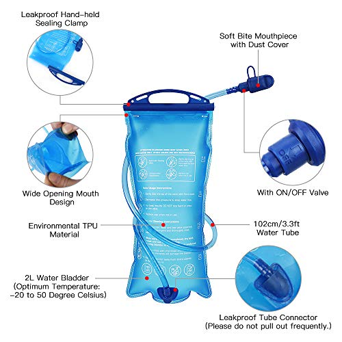 Lixada Hydration Backpack 5L Running Backpack Lightweight Breathable Water Bladder Bag for Running Hiking Mountaineering Marathoner Walking