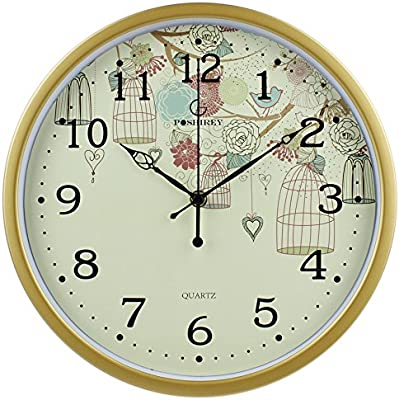 Komo Stylish Classic Quartz Large Wall Clock Non Ticking Silent Creative Living Room Wall Clock Stylish