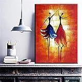 SADHAF Abstract dancer girl ballet canvas artwork trabajo estudio decoración y sala de estar decoración A1 30x40cm
