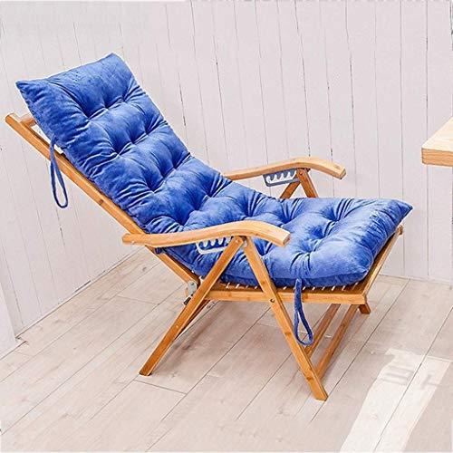 N /A Coussin de chaise longue, épaississant pour chaise longue, chaise pliante, chaise pliante, chaise (couleur : bleu, taille : 125 x 48 cm), bleu, 150*48cm