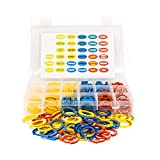 DND Condition Rings and Markers - 132 Pcs with 33 Conditions, Spells, & Effects for Miniatures in Dungeons and Dragons - More Color Coded Tokens for D&D Embossed ABS Plastic