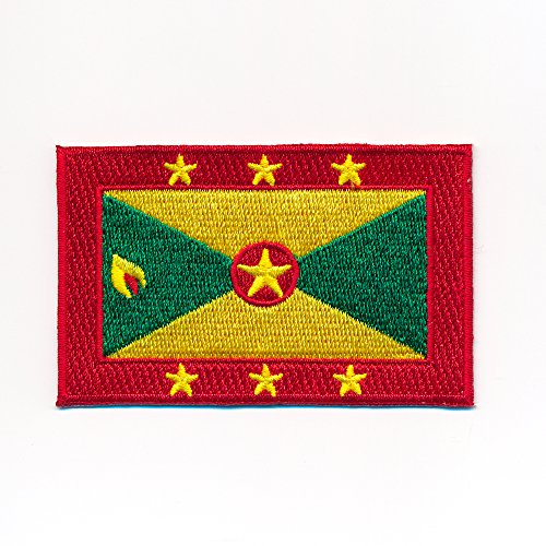 hegibaer 60 x 35 mm Grenada Flagge St. George's Karibik Flag Aufnäher Aufbügler 1043 B