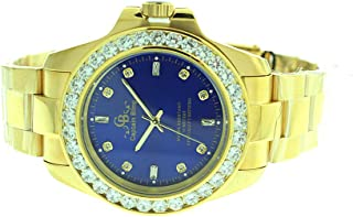 Full Stainless Steel Watch-iced Out Bezel- Genuine CZ-Water Resistant with Box