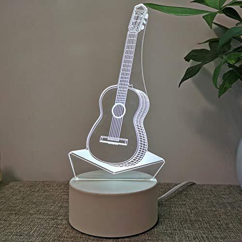marca blanca USB monocromo 3D noche luz LED lámpara de mesa lámpara de noche