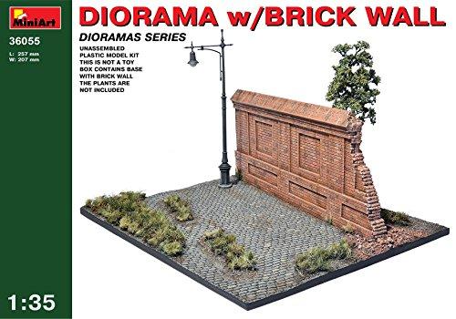 MiniArt 1: 35Escala Kit de Modelo de plástico Diorama con diseño de Pared de Ladrillos