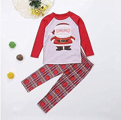 Christmas Family Matching Cute Baby Boys Girls Pajamas Long Sleeve Santa Mommy and me Kids Sleepwear 2PCS Set
