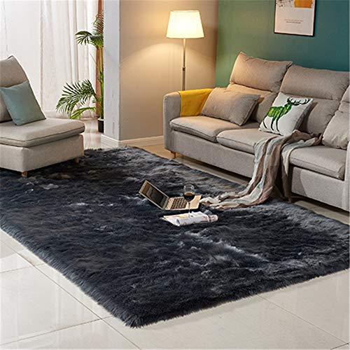 European-Style Non-Slip And Moisture-Proof Floor Mat, Simple Solid Color Rectangular Skin-Friendly Carpet, Microfiber Coral Fleece, Suitable For Bedroom, Bedside, Living Room, Kindergarten Floor Mat