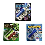 3 Pack Projector Flashlight Night Photo Picture Light Bedtime Study Learning Fun Toys for Baby Kids 3 Age