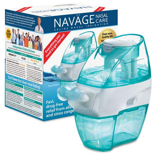 Navage Nasal Care Starter Bundle: Navage Nose Cleaner and 20 SaltPod Capsules Plus Eucalyptus 2-Pack Sampler