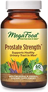 MegaFood, Prostate Strength, Supports Healthy Urinary Function in Men, Multimineral and Herbal Supplement, Vegan, 60 Table...