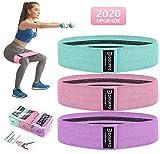 disuppo bande elastica fitness 3 set,fasce elastiche di resistenza per esercizi glutei,yoga,pilates,physiotherapy, riabilitazione fisico e motore elastico