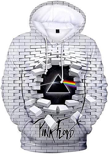 Herren Kapuzenpullover Für Pink Floyd Thema,3D-Druck Kapuzenpullover lässig Kapuzenpulli im Freien Sweatshirt,Unisex Bequem Atmungsaktiv,H1,M