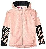 adidas Cotton Cover Up Chaqueta, Infantil, Haze Coral Melange/Carbon/Reflective Silver, 116