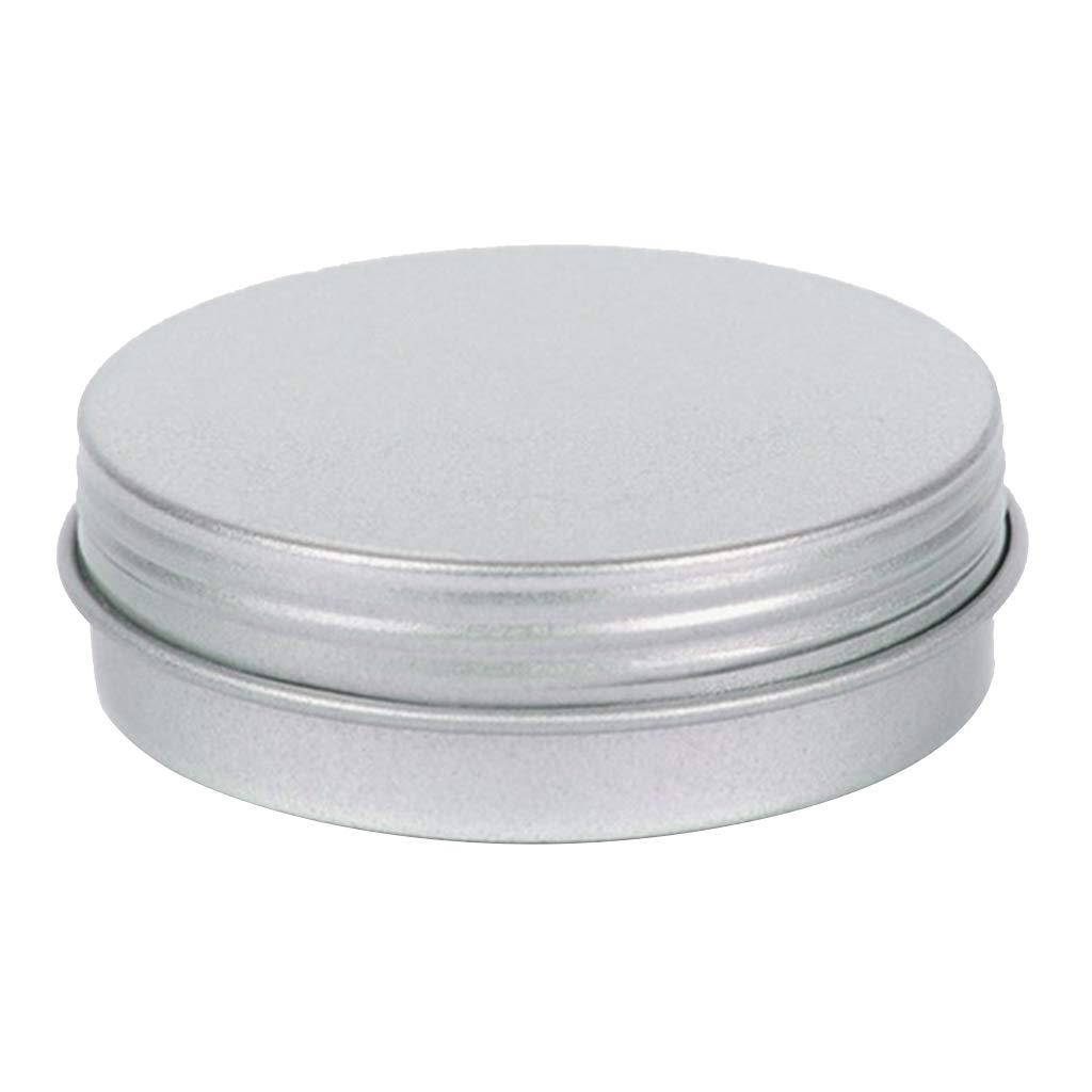 Sharplace Lata Redonda Vacía de Metal con Tapa Caja de Almacenamiento Caja Contenedor Tapa Metálica 48 mm: Amazon.es: Hogar