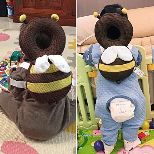 VYNOPA Baby Head Protector Baby Toddlers Head Cuscino Pad di Sicurezza Protezione for la Schiena del Bambino Prevenire i più Piccoli Feriti età Adatta 4-24 Mesi (Breathable Bee) (Color : Brown)