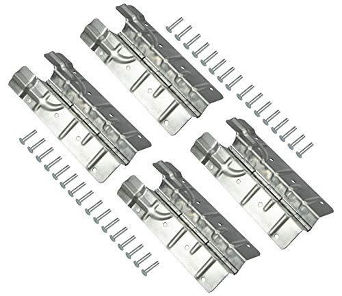 Gedotec Paletten-Scharnier für Holz-Aufsatzrahmen & Möbel   Spezial-Scharnier zum Schrauben   Winkel-Band mit Höhe: 220 mm   Stahl verzinkt   4 Stück - Aufschraubband Metall inkl. Befestigungsmaterial
