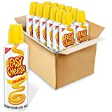 Twelve 8 oz cans of Easy Cheese Cheddar Cheese Snack Made from milk, whey, and real cheese culture for authentic cheddar flavor Bulk cheese keeps you stocked for easy entertaining Use as a topping for cheese and crackers or other favorite snacks Exce...