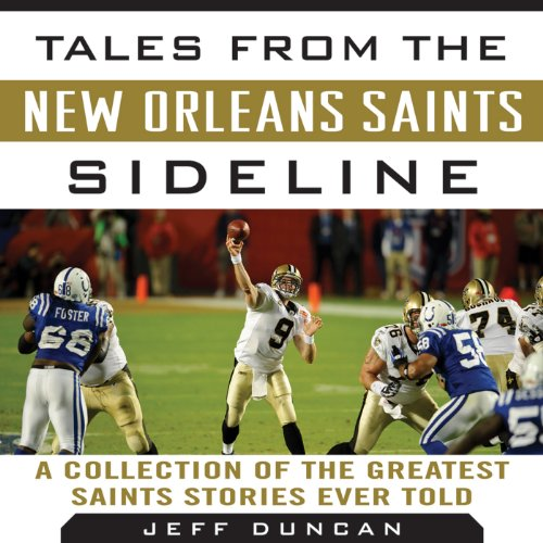 Tales from the New Orleans Saints Sideline audiobook cover art