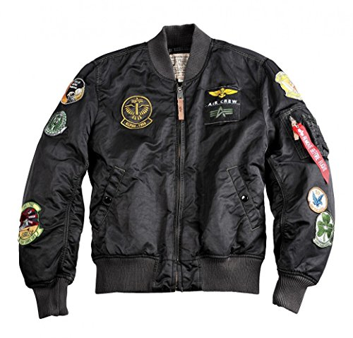 Alpha Industries Jacke MA-1 Pilot, Farbe:black overdyed;Größe:M