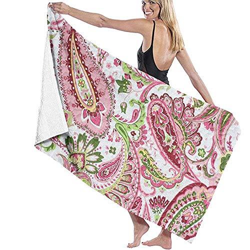 EXking Mooie ham bloemen microvezel badhanddoek bad surf surf zwemmen super zachte super absorberende handdoek