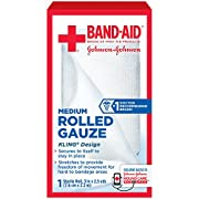 Band Aid Brand First Aid Products Flexible Rolled Gauze Care Dressing, 2 in x 2.5 yd