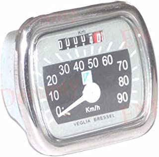 Enfield County Vespa Bressel Piaggio Logo 90 km/h grau schwarz Tacho Vn VM Acma 150