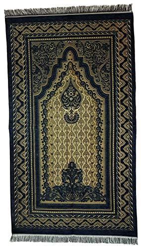 Ilkadim Türkischer Gebetsteppich 115 x 68cm Seccade Namazlik Sajada Sedschade (dunkelblau)