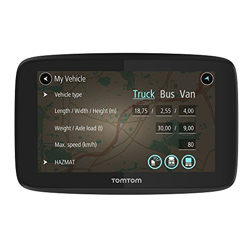 TomTom GO Professional 6200 with updates via WI-FI, Lifetime Maps of Europe, TomTom traffic and safety camera alerts