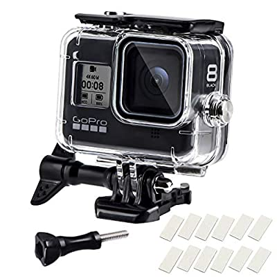 Waterproof Housing Case for GoPro Hero 8, 60M Diving Protective Housing Shell for Gopro Hero 8 Black Action Camera, Underwater Waterproof Protective Case with Quick Release Mount and Thumbscrew by REDTRON