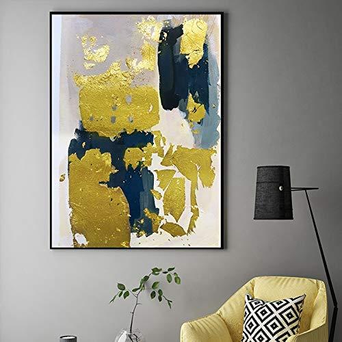jiushice Rahmen Abstrakte goldene leinwand ng nordischen Stil Poster und drucken goldene wandkunst Bild für Wohnzimmer esszimmer wohnkultur 50x70cm