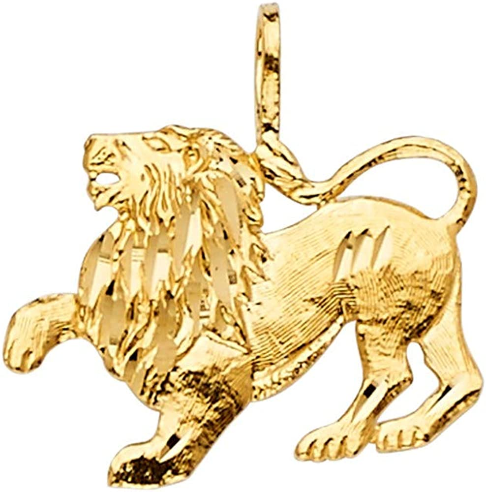 Jewels By Lux 14K Yellow Gold Pendant Safety and trust X Lion Seasonal Wrap Introduction 20mm