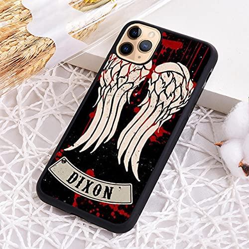 Daryl Dixon Walking Waling Wings Funda telefónica para iPhone 5S SE 6 6S 7 8 Plus X XR XS 11 12 Pro MAX-1_para iPhone XR