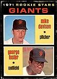1971 O-Pee-Chee # 276 Giants Rookies George Foster/Mike Davison San Francisco Giants (Baseball Card) VG Giants. rookie card picture