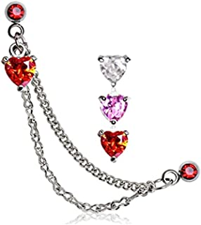 Best double helix heart piercing Reviews