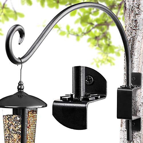 AJART Drehbare Blumenampelhalter – Handgeschmiedete Eisen hängende Blumenampel Halterung Pflanzenhalterung für Pflanzentöpfe, Blumenkörbe, Vogelfutterspender und Windspiele. (30cm)