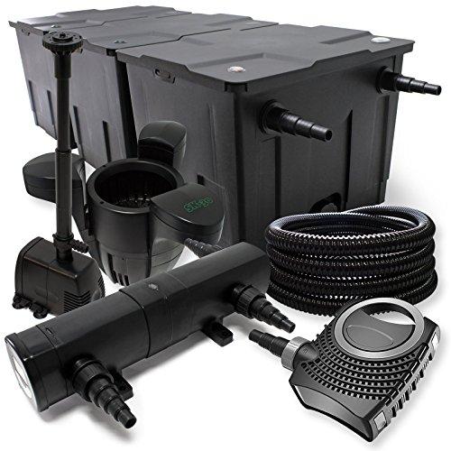 Filterset: bio-vijverfilter tot 90000l UV-zuiveraar met 18W 80W pomp Skimmer en fonteinpomp