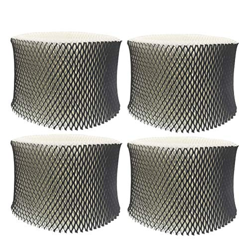 4-Pack Replacement Humidifier Filters Compatible with Holmes HWF64, Filter B, and Sumbeam Bionaire Cool Mist Humidifiers