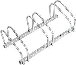 PrimeMatik - Râtelier 3 vélos Système Range-vélo Support pour Bicyclette en Acier Fixation Sol ou Mur